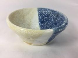 Studio Pottery Art Small Stoneware Dipped Tripl... - $20.56