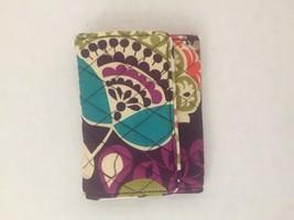 Vera Bradley Petite Trifold Wallet Plum Crazy New - $20.00