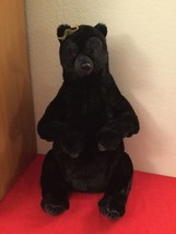 "Disney Pixar Brave Queen Elinor Plush 22"" Jointed Black Bear With Crown - $30.00"
