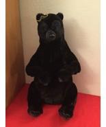 "Disney Pixar Brave Queen Elinor Plush 22"" Jointed Black Bear With Crown - $30.00"