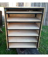 "6 Shelf Enclosed Rolling Cart 49"" H x 36""W x 25""D Storage Rack Sturdy He... - $79.19"