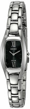 Seiko SUP317 Women's 18mm Black Dial Stainless Steel Solar Powered Watch NWT
