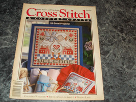 Cross Stitch & Country Craft Magazine January February 1993 Folk Art Heart - $2.69