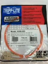 NEW TRIPP LITE N306-003 Duplex Multimode 62.5/125 Fiber Patch Cable SC/SC 3ft - $11.88