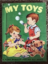My Toys Rand McNally Junior Elf 8051:19 Hard Back Children's Book vintage 1950s - $7.24