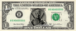 DEADPOOL - Real Dollar Bill Marvel Cash Money Collectible Memorabilia Ce... - $7.77