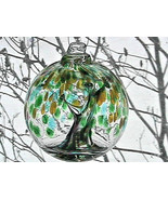 "Hanging Glass Ball 4"" Diameter ""Winter Tree"" Witch Ball (1) #110 - $15.84"