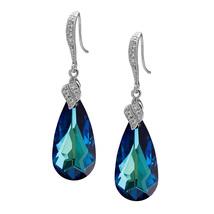 Sterling Silver Swarovski Crystals CZ Teardrop Dangle Earrings Select 1 ... - $28.00