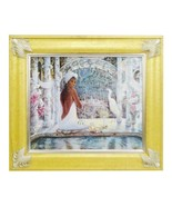 "Vintage framed lithograph on canvas titled ""Tranquility"" by Jonnie K.C. ... - $295.00"