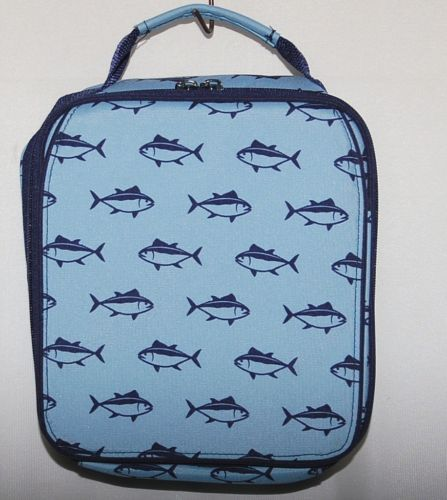 WB Brand M380 Finn Lunch Box Two Tone Blue Tuna Fish Design