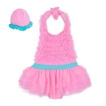 Swimsuit for Baby Girl One Piece Swimwear Bathing Suit, Halter Ruffles B... - $22.93