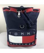 VTG Tommy Hilfiger Backpack Big Flag Spell Out Logo OG Bag 90s Duffle Kith - $139.99
