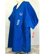 NFL NEW Indianapolis Colts Medical Scrub Top M MEDIUM V Neck Unisex Hors... - $24.95