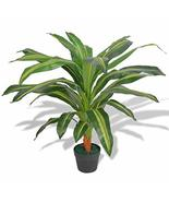 "Artificial Dracaena Plant with Pot 35.4"" Green - $47.71"
