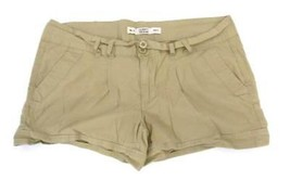 CELEBRITY PINK JEANS Junior Women's Khaki Beige/Tan Pleated Front Shorts... - $7.92