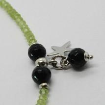 Silber Armband 925 mit Peridot-Grün Grün Onyx und Anhänger A Sterne image 2