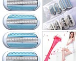 4pcs/lot 3-Layer Blade Women Ladies Shaver Replacement Head Sharp And Durable St