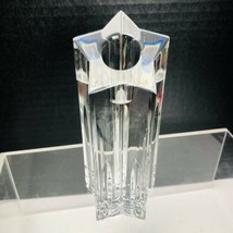 WATERFORD LEAD CRYSTAL STAR CANDLESTICK HOLDER IRELAND - $39.55