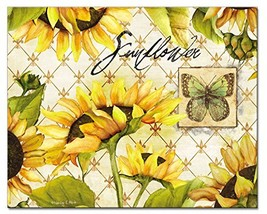CounterArt Sunflowers in Bloom Glass Cutting Board, 15 x 12 Inches - $33.83