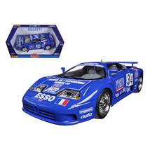 Bugatti EB 110 Blue #34 La Mini Mineria 1/18 Diecast Car Model by Bburag... - $57.43
