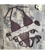 Handmade Crochet Bikini String Beach Micro Swimwear Sexy Lingerie Sets 2... - $9.56