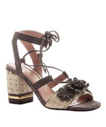 Poetic Licence Women's Entwined Ghillie Lace-Up Block Heel Sandals Grey - $125.00