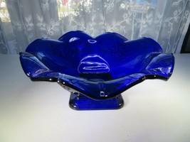 Vintage cup bowl Deep Blue centerpiece dish Pop Art Deco Bauhaus mid cen... - $60.00