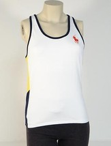Ralph Lauren US Open White Blue & Yellow Racer Back Tennis Tank Womans NWT - $74.99