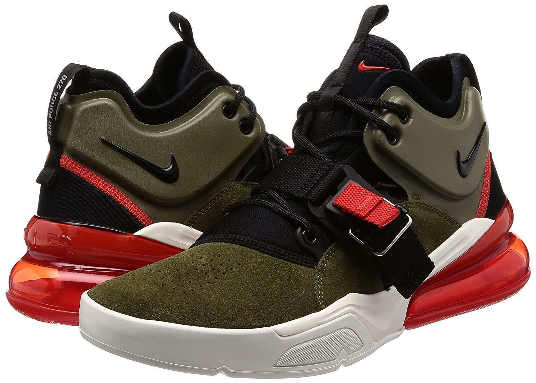 99351ef630 NIKE Air Force 270 Men's Running Shoes Medium Olive/Black AH6772-200 -  $160.00
