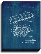 Egg Carton Patent Print Midnight Blue on Canvas - $39.95+