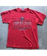 Vintage Nebraska Cornhuskers Football T-Shirt Men's Large Red GBR - $18.81