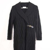 Calvin Klein Sweater Dress Womens Large Black Long Sleeve Knit 100% Acry... - $27.00