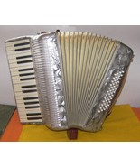 48 Bass Silver Colored Frontalini Accordion Wit... - $600.00