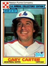 1984 Topps Ralston Purina #28 Gary Carter NM-MT Montreal Expos  - $3.00