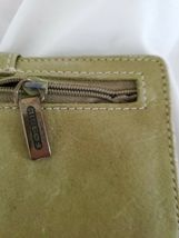 Fossil Leather Green Multicolor Floral Bi-Fold  Checkbook Wallet image 7