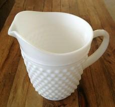 Fenton Milk Glass Hobnail Large 2 Quart Pitcher Vintage EUC - $37.00