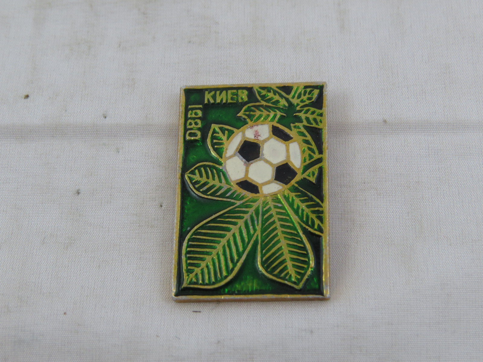Primary image for 1980 Summer Games Olympic Pin - Kiev Soccer Venue Pin - Stamped Pin