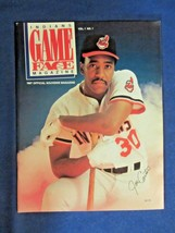 INDIANS GAME FACE MAGAZINE 1987 VOL. 1 NO. 1 OFFICIAL SOUVENIR MAGAZINE - $29.99