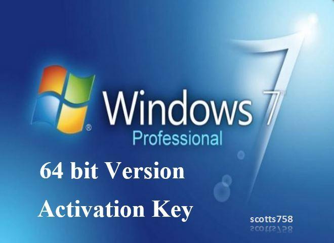 windows 7 professional 64 bit activate