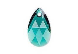 Swarovski Pear crystal pendant style 6106 Emerald 16mm 22mm 28mm green - $3.71+