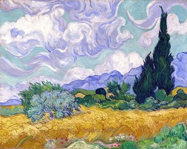 Wheat Field with Cypruses Painting by Vincent van Gogh Art Reproduction - $32.99+