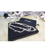 AUTHENTIC Chanel 2017 Classic 3 Crystal Silver CC Pearl Long Necklace RARE - $999.99