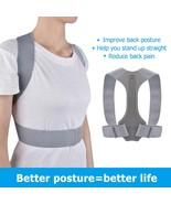Back Posture Corrector Spine Shoulder Lumbar Adjustable Brace Belt for M... - $58.37
