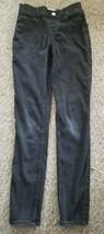 ABERCROMBIE KIDS Black Pull On Jeans Leggings Girls Size 13-14 Slim - $5.84