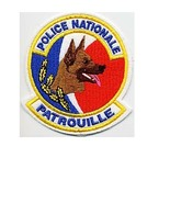 France Police Nationale Gendarmerie Unite Cynophile Patrouille French Na... - $10.99