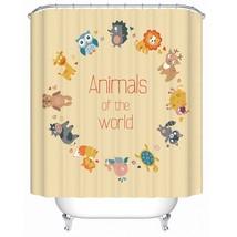 Children Cartoon Animal Shower Curtain 180x180cm Waterproof Polyester Bath Curta - $39.99