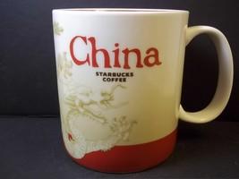 Starbucks DRAGON coffee mug Country Icon series China red interior 2011 ... - $24.82