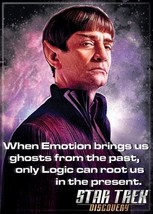 Star Trek Discovery Sarek Only Logic Can Root Us In Present Fridge Magne... - $3.99