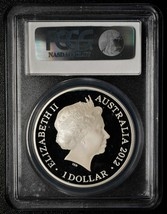 2012 Australia Lunar Dragon $1 One Dollar Silver Proof Coin PCGS PR70DCAM # A561 image 2
