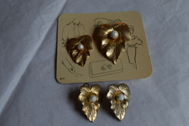 Vintage 1961 Sarah Coventry New Chit-Chat Pin Set & Pre-Owned Earrings - $46.99